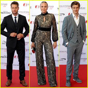 Justin Hartley, Malin Akerman, & Lucas Till Look Sharp at Monte Carlo TV Festival 2017