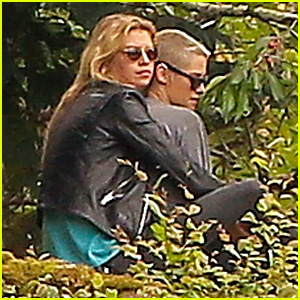 Stella Maxwell Cuddles Kristen Stewart at Photo Shoot in France