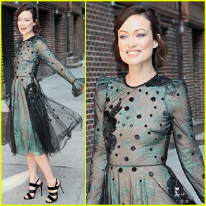 Olivia Wilde Dazzles in See-Through Dress for 'Colbert'
