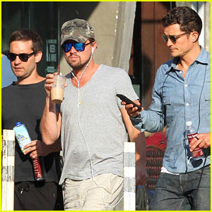 Leonardo DiCaprio, Orlando Bloom, & Tobey Maguire Hang Out in New York City!