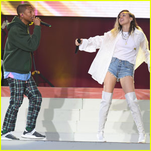 Pharrell Williams Sings 'Happy' Alongside Miley Cyrus (Video)