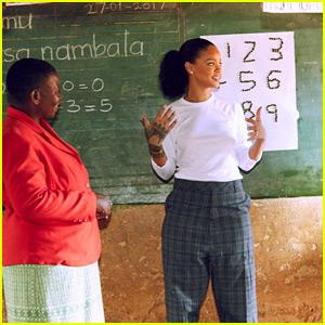 Rihanna Visits Malawi School Children, Helps Teach Math in New Short Film