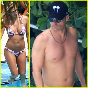 Ryan Seacrest Goes Shirtless with Bikini-Clad Girlfriend Shayna Taylor in Miami!