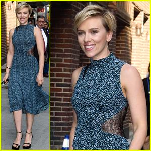 Scarlett Johansson's Night Doesn't Look So Rough at 'Colbert'