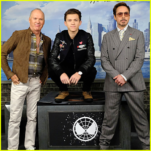 Tom Holland & Robert Downey, Jr. Hit Up 'Spider-Man: Homecoming' NYC Photocall