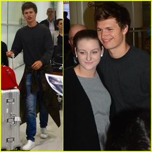Ansel Elgort Gets Greeted By Fans at Australian Airport!