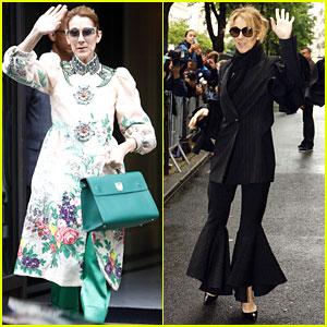 Celine Dion Is a Floral Goddess In Paris
