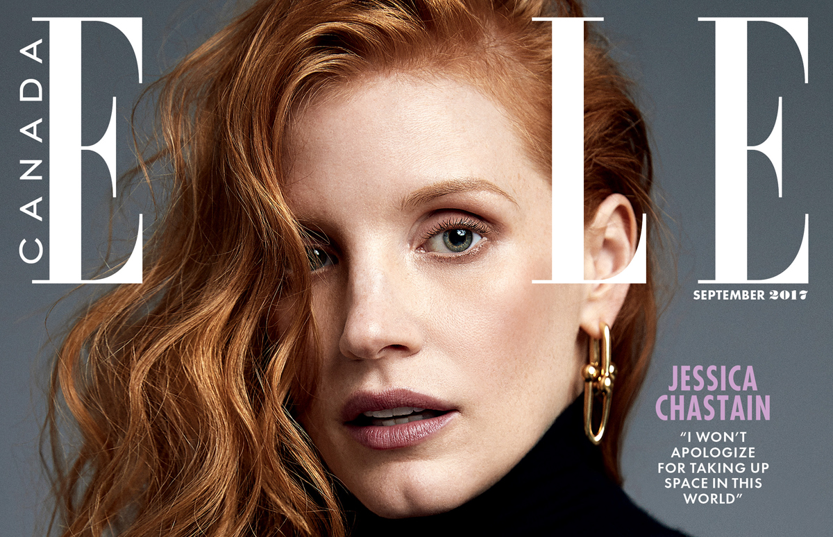 jessica chastain describes what it was like calling out cannes representation of women jessica chastain magazine just jared