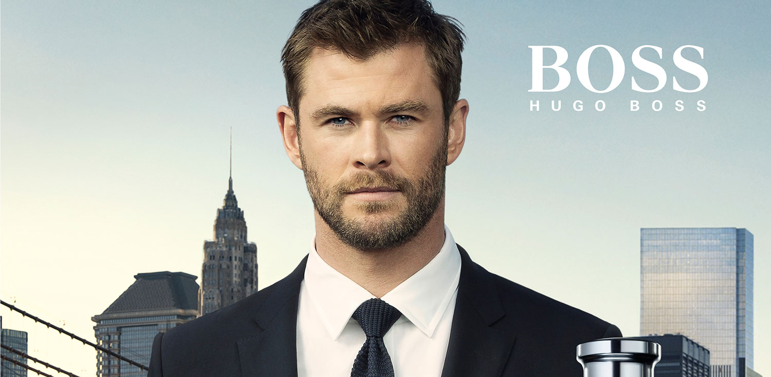 Chris Hemwsorth Suits Up For Hugo Boss Fragrance C aign on perfumes by jennifer lopez