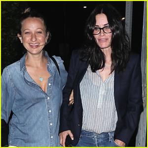 Courteney Cox Grabs Dinner with Pal Jennifer Meyer