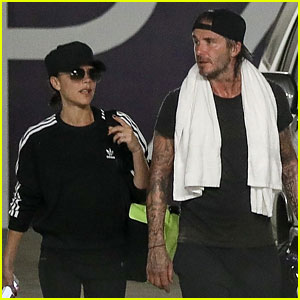 David & Victoria Beckham Get In a Workout Together