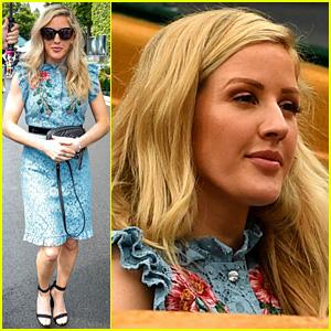 Ellie Goulding Cheers On Brit Johanna Konta at Wimbledon