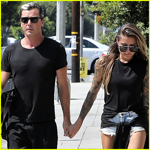 Gavin Rossdale Holds Hands with Girlfriend Sophia Thomalla
