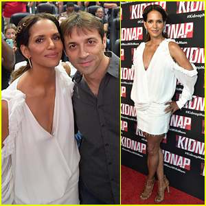 Halle Berry Premieres 'Kidnap' in Miami in Stunning White Dress