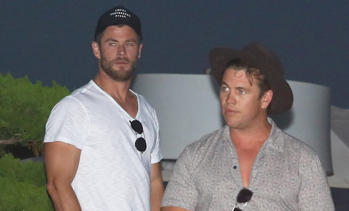chris hemsworth brother luke grab dinner together in malibu