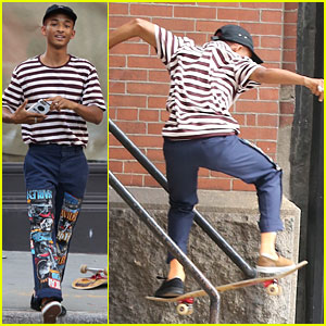Jaden Smith Shows Off Skateboard Moves in Soho
