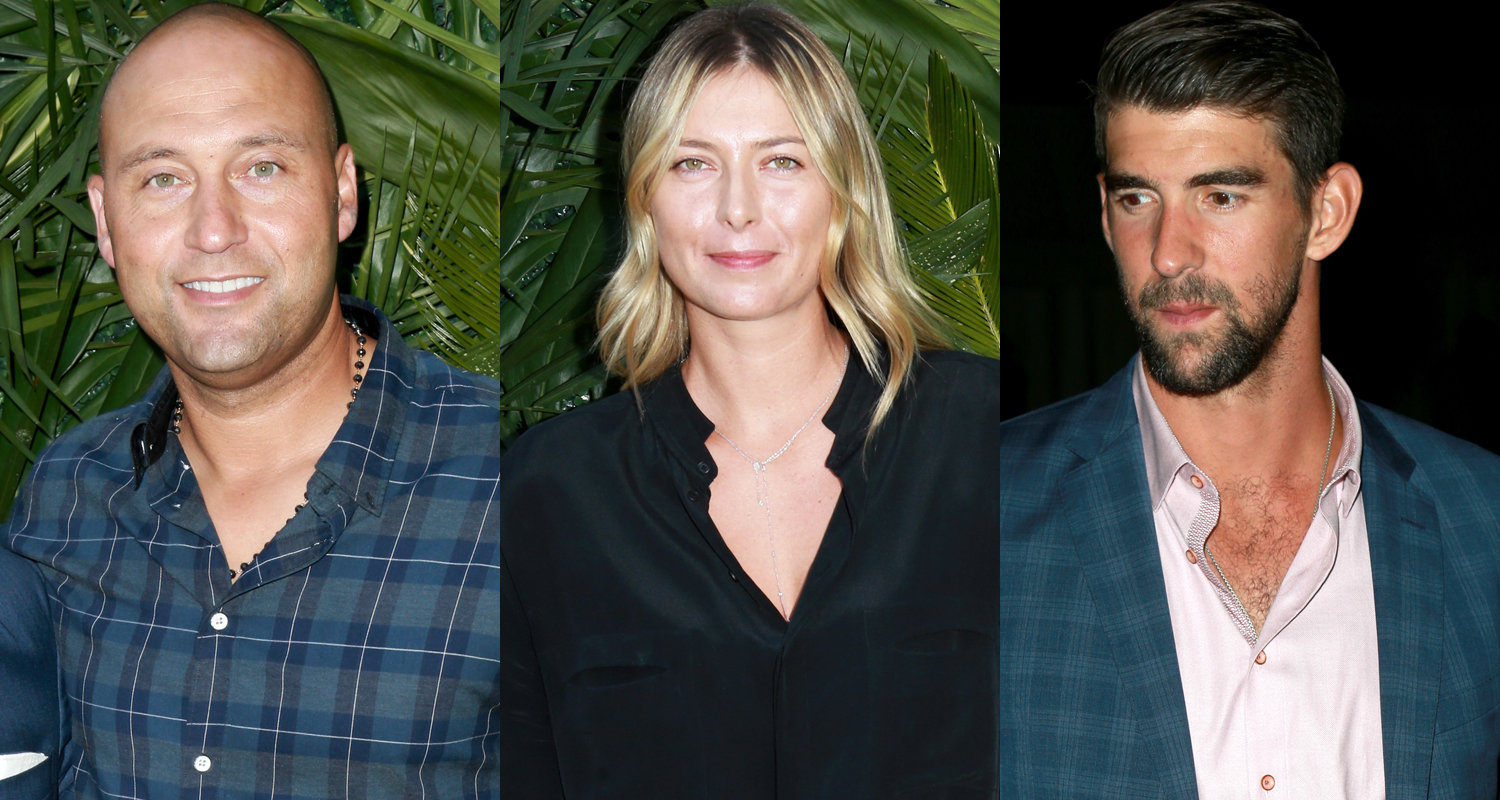 Derek Jeter, Maria Sharapova & Michael Phelps Step Out for The Players' Tribune Night Out Bash!