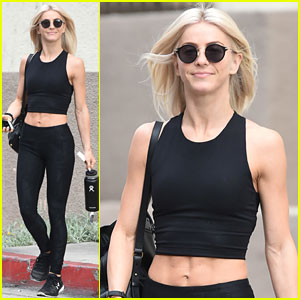 Julianne Hough Puts Her Abs on Display During Holiday Weekend Workout