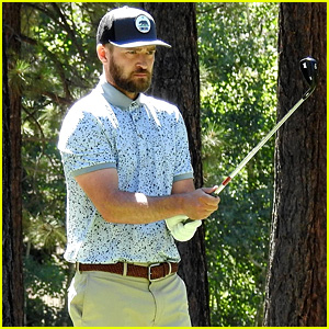 Justin Timberlake Consoles Woman Hit by Golf Ball at Celebrity Golf Championship (Video)