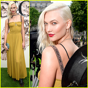 Karlie Kloss Debuts Platinum Blonde Hair at Dior's Paris Show