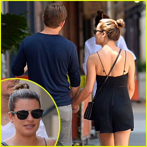 Lea Michele Holds Hands with Mystery Man, Fans Identify Him as Zandy Reich