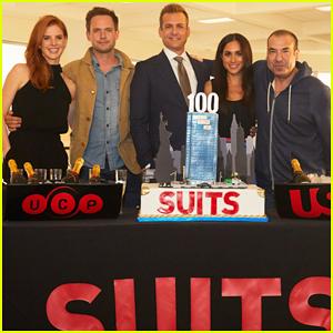 Meghan Markle & 'Suits' Cast Celebrate 100th Episode Milestone Ahead of Season 7 Premiere!