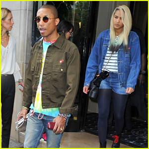 762957a081711 Pharrell Williams   Wife Helen Lasichanh Step Out During Paris Fashion Week