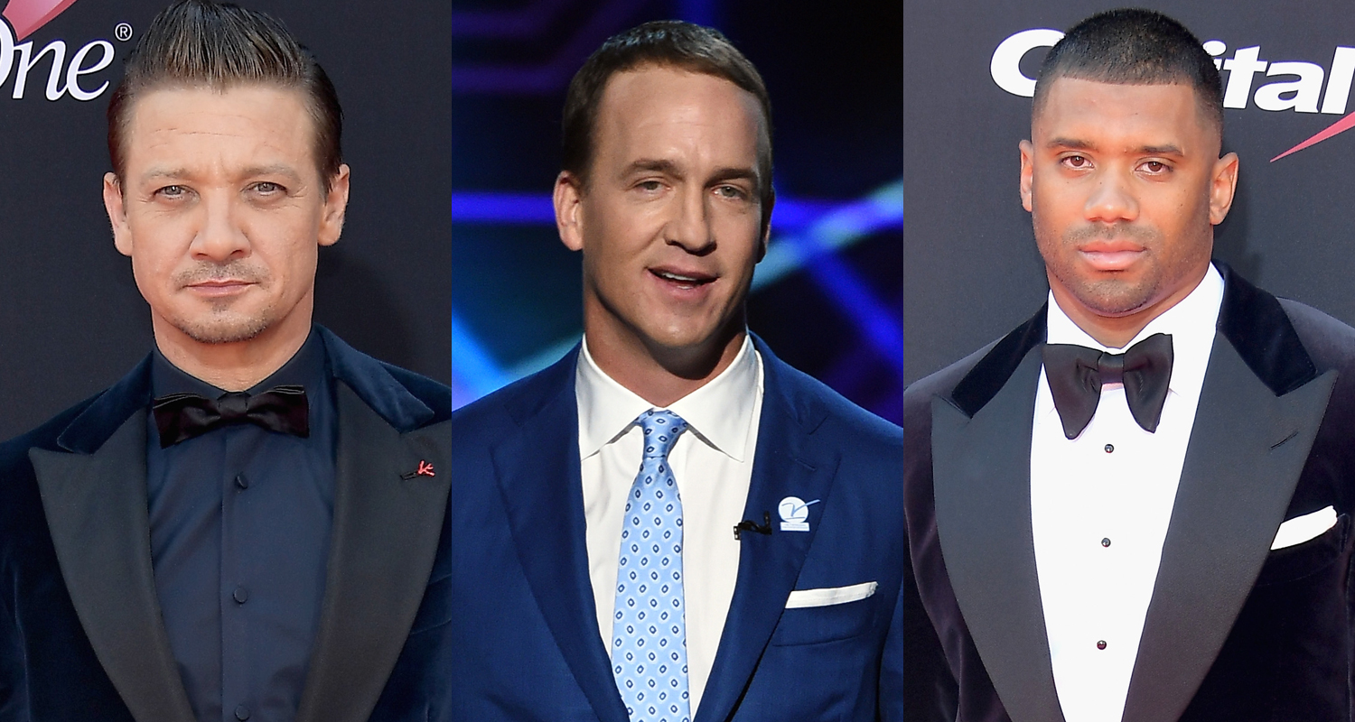 Jeremy Renner, Peyton Manning, & Russell Wilson Suit Up for 2017 ESPY Awards
