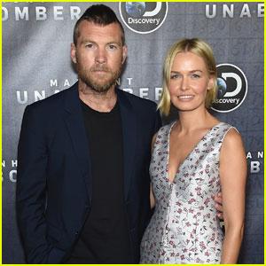 Sam Worthington Rocks Mohawk at 'Manhunt: Unabomber' Premiere With Wife Lara Bingle