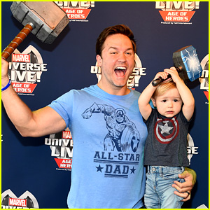 Scott Porter & Son McCoy Are an Adorable Father-Son Duo at Marvel Universe Live Show!