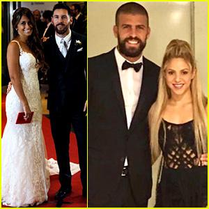 Shakira Attends Soccer Star Lionel Messi's Wedding