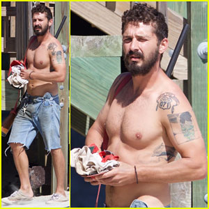 Shia LaBeouf Returns To 'Peanut Butter Falcon' Set Shirtless After Arrest in Georgia