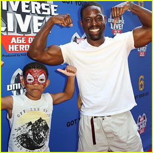 This Is Us' Sterling K. Brown Flexes Huge Biceps at Marvel Universe Live Show!