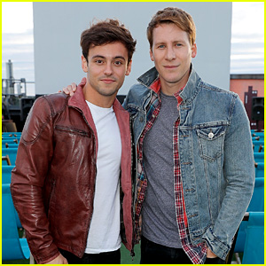 Tom Daley Joins Dustin Lance Black at 'Milk' Screening