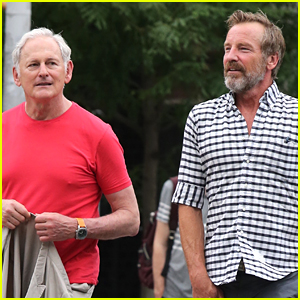 Victor Garber & Hubby Rainer Andreesen Go for a Stroll in NYC