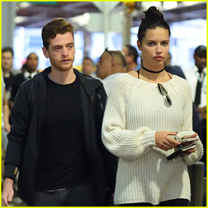 Adriana Lima Touches Down in NYC with Boyfriend Metin Hara