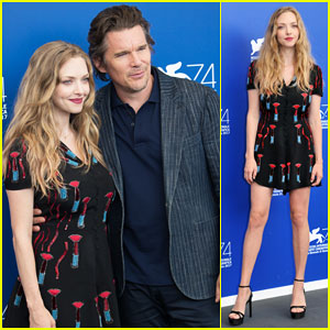 Amanda Seyfried Joins Ethan Hawke at 'First Reformed' Venice Film Fest Photo Call!