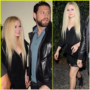 Avril Lavigne Rocks Black Slip Dress & Heels for Night Out With J.R. Rotem