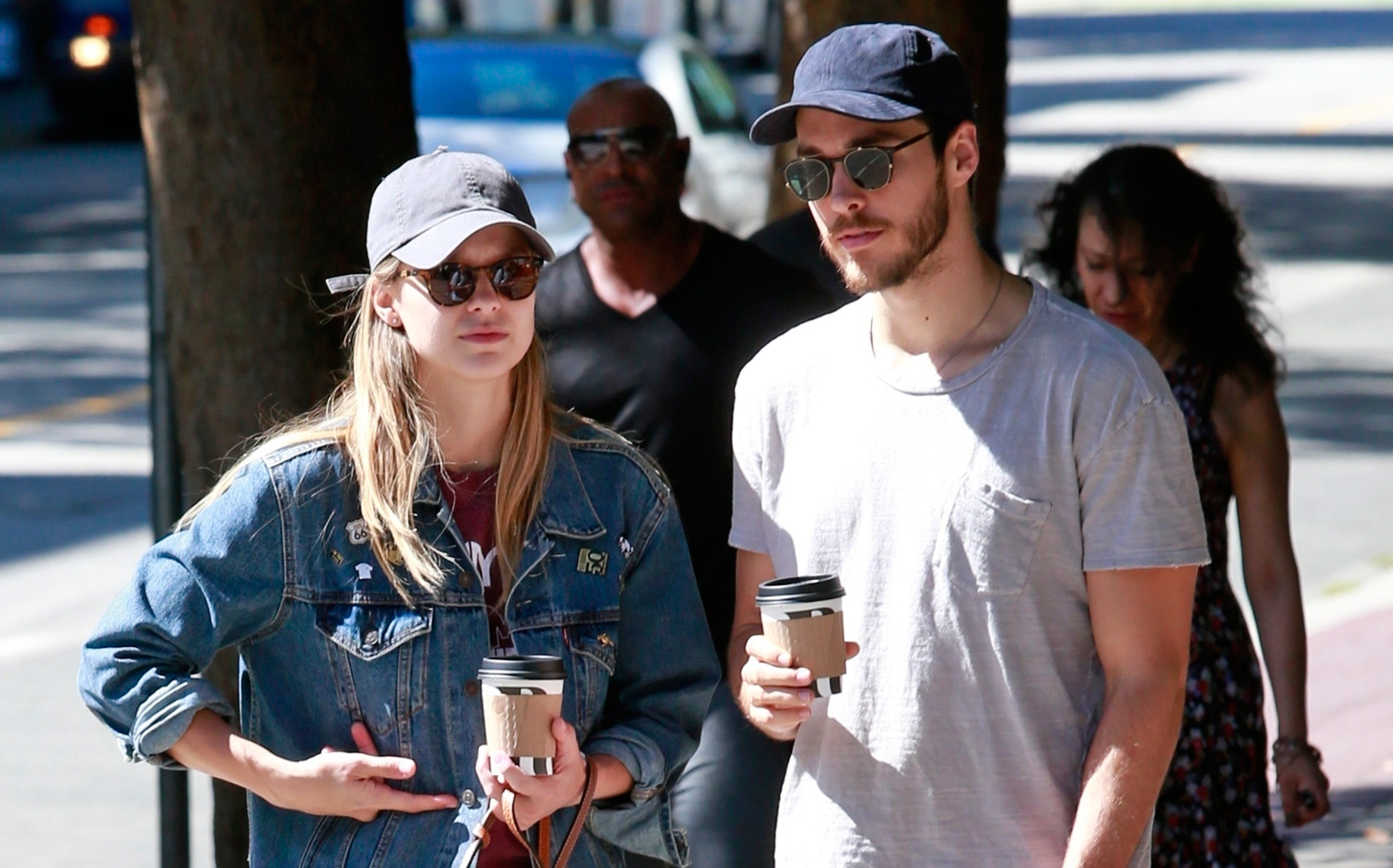 Melissa Benoist and her current boyfriend Chris Wood