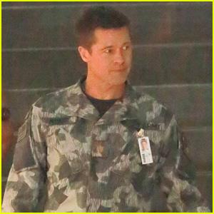 Brad Pitt Dons an Army Uniform on 'Ad Adstra' Movie Set