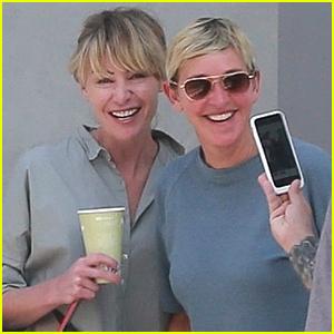 Ellen DeGeneres & Portia de Rossi Stay Close in LA | Ellen ...