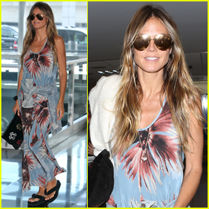 Heidi Klum Looks Supermodel Chic at the Airport!