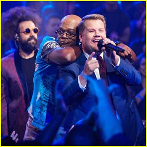 James Corden & Samuel L. Jackson Face Off in Epic 'Drop the Mic' Rap Battle - Watch Here!