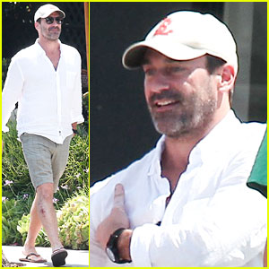 Jon Hamm Sports Some Scruff While Out to Lunch