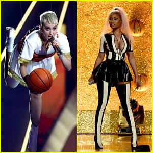 Katy Perry & Nicki Minaj Close Out MTV VMAs 2017 With 'Swish Swish' - Watch Now!