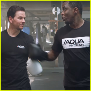 Mark Wahlberg & Diddy Go Head-to-Head Before Mayweather-McGregor Fight - Watch Now!