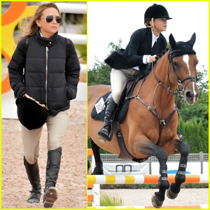 Mary-Kate Olsen Takes Her Equestrian Skills to Hampton Classic Horse Show