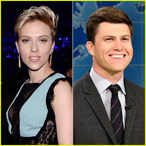 Scarlett Johansson Hangs With Colin Jost at Dave Chapelle's Birthday Party!
