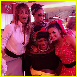 75af7c4a695 Serena Williams Celebrates  50s-Themed Baby Shower with Famous Friends!