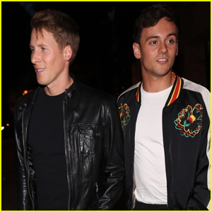 Tom Daley & Dustin Lance Black Couple Up For a Night Out!